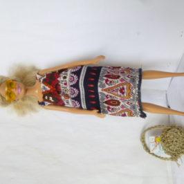 robe fluide à bretelles pour Barbie