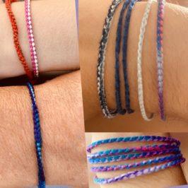 Bracelets à la surjeteuse