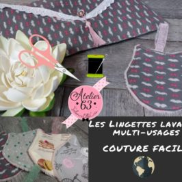 Lingettes lavables Multi-usages