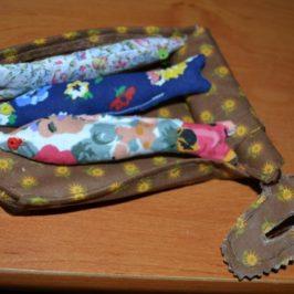 Boîte de sardine à la lavande en tissu
