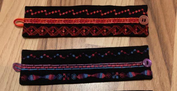 Bracelets cousus