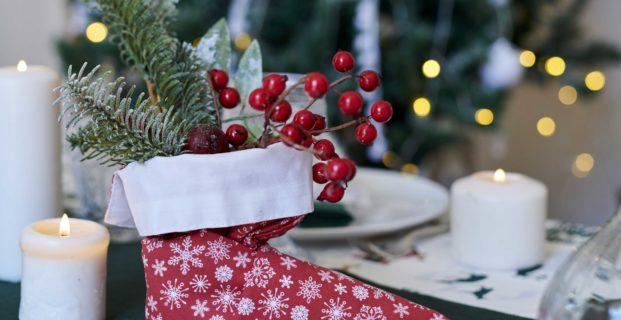 Déco de Noël bottine de lutin