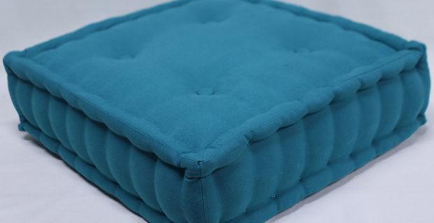 Coudre un coussin carré tapissier