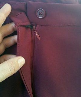 Changer la fermeture éclair d'un pantalon