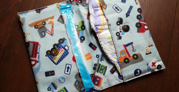 Pochette pour lingettes et couches