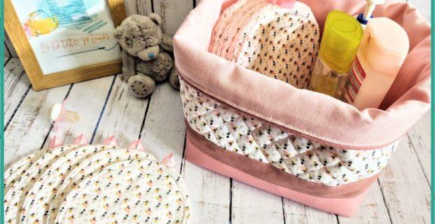 La jolie panière de lingettes de bébé