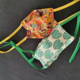Masque en tissu à plis