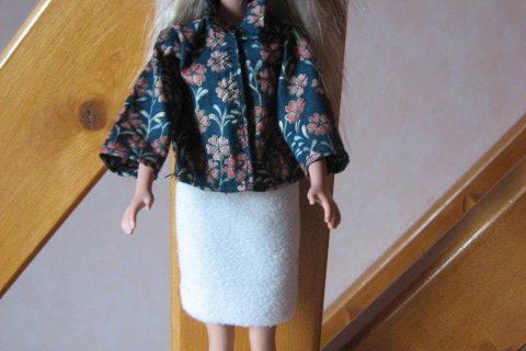 Chemisier et jupe droite Barbie