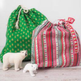 Sac cadeau réutilisable pour un Noël zéro déchet