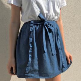 jupe taille élastiquée