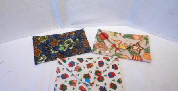 Enveloppe cadeau en tissu