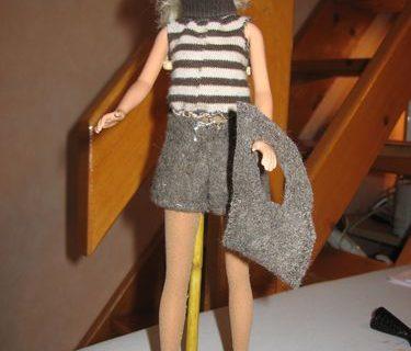Short pull bottines pour Barbie