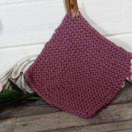Tricoter une manique fil coton tubulaire