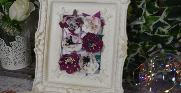 Fleurs en tissu avec une machine de découpe et des matrices
