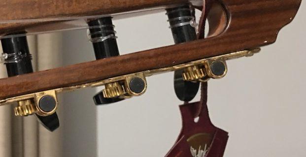 Porte médiator en cuir avec 2 poches