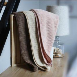 Turban de bain ou serviette sèche-cheveux