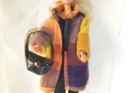 Manteau tartan pour Barbie