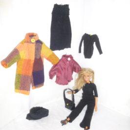 Chaussettes recyclées en 5 vêtements Barbie