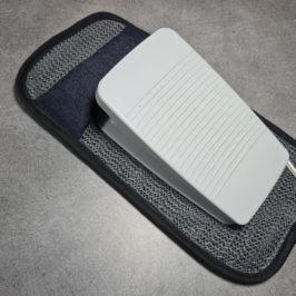 Support antidérapant pour pédale de machine à coudre